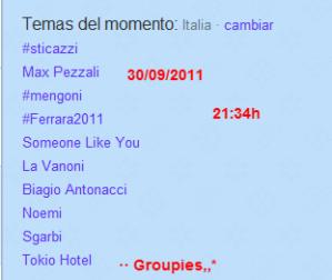 "Tokio Hotel se ha convertido en ""Trending Topic"" en Italia =D [30.09.2011]"