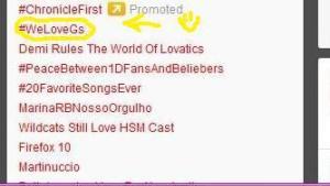 #WeLoveGs se ha convertido en TT en Brasil [31.01.2012]