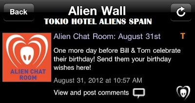 "BTK App UPDATE: Alien Chat Room – ""Send Bill & Tom your birthday wishes here!"""