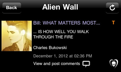 "BTK App UPDATE: Bill: "" 'WHAT MATTERS MOST IS HOW WELL YOU WALK THROUGH THE FIRE' – Charles Bukowski"""