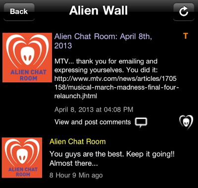 "BTK App Update – Alien Chat Room: ""You guys are the best. Keep it going!! Almost there…"""