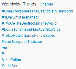 #TokioHotelThanksFollowSpree Worldwide TT! [08.04.2013]