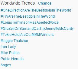 #TokioHotelAreOurMMMWinners Worldwide TT! [08.04.2013]